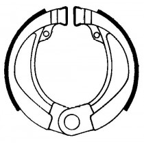 Trommelremblokken front 104x22mm include springs PEUGEOT FOX 50 1996-