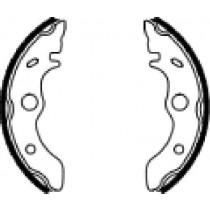 Trommelremblokken front 160x30mm include springs