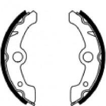 Trommelremblokken front 160x25mm include springs