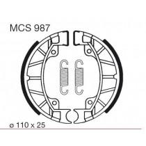 Trommelremblokken front 110x25mm include springs PIAGGIO/VESPA SFERA 1 SFERA 2 50/80 1991-